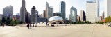 Buildings in a City, Millennium Park, Chicago, Illinois, USA Fotografisk tryk af Panoramic Images