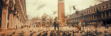 Flock of Pigeons Flying, St. Mark's Square, Venice, Italy Photographic Print by  Panoramic Images