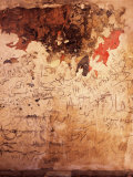 Graffiti and Fire Damage on the Wall of a Mosque, Syria Photographic Print