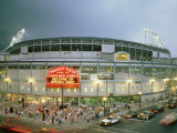 High Angle View of Tourists Outside a Baseball Stadium Opening Night, Wrigley Field, Chicago Photographic Print
