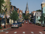 Buildings Along a Road, Annapolis, Maryland, USA Photographic Print