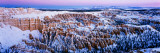 Canyon Covered with Snow, Bryce Point, Bryce Canyon National Park, Utah, USA Photographic Print by  Panoramic Images
