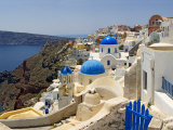 High Angle View of a Church, Oia, Santorini, Cyclades Islands, Greece Photographic Print