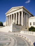 Low Angle View of a Government Building, Us Supreme Court Building, Washington DC, USA Photographic Print
