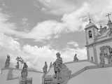 Low Angle View of Statues in Front of a Church, Sanctuary of Bom Jesus Do Congonhas, Congonhas Photographic Print