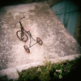 High Angle View of a Tricycle, France Photographic Print