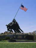 Statues at a War Memorial, Iwo Jima Memorial, Arlington National Cemetery, Virginia, USA Photographic Print