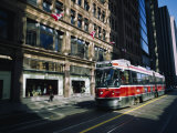 Cable Car Moving on a Road, Toronto, Ontario, Canada Photographic Print