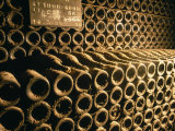 Close-up of Wine Bottles in a Cellar of Bollinger, Ay, Champagne, France Photographic Print