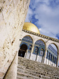 Low Angle View of a Mosque, Dome of the Rock, Jerusalem, Israel Photographic Print