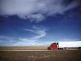 Truck on the Road, Interstate 80, Albany County, Wyoming, USA Photographic Print