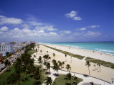 Florida, Miami, Ocean Drive and South Beach of Miami Photographic Print