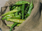 Close-up of Green Chilli Peppers Photographic Print