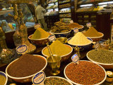 Assorted Spices at a Market Stall, Istanbul, Turkey Photographic Print