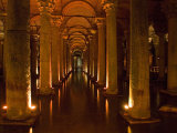 Interiors of a Basilica Cistern, Istanbul, Turkey Photographic Print