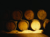 Barrels in a Cellar, Chateau Pavie, St. Emilion, Bordeaux, France Photographic Print
