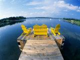 Adirondack Chairs on Dock Nova Scotia Canada Photographic Print