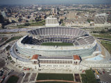 Aerial View of a Stadium, Soldier Field, Chicago, Illinois, USA Photographic Print