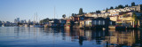 Houseboats in a Lake, Lake Union, Seattle, King County, Washington State, USA Photographic Print by  Panoramic Images