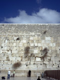 Group of People Praying in Front of a Wall, Western Wall, Jerusalem, Israel Photographic Print