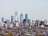 Buildings in a City, Comcast Center, Center City, Philadelphia, Philadelphia County Photographic Print