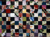 Quilt of Black and Multicolored Horizontals Photographic Print