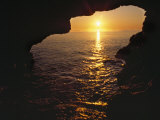 View of Ocean Sunrise from Inside Anenome Cave Photographic Print