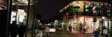 Louisiana, New Orleans, French Quarter, Illuminated Street at Night Photographic Print by  Panoramic Images
