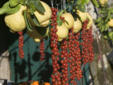 Close-up of Fruits and Vegetable in a Market Stall, San Pietro, Sorrento, Naples, Campania, Italy Photographic Print