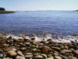 Maine, Acadia National Park, Wonderland Trail, Sea Waves Hitting Rocky Beach Photographic Print