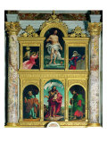 Polyptych, Annunciating Angel, Redeemer, Virgin Annunciate, St Peter, St John and St Paul Reproduction proc&#233;d&#233; gicl&#233;e par Plinio Nomellini