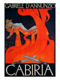 "Film Poster for ""Cabiria"" Reproduction procédé giclée par Ippolito Caffi"