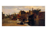 Canal of the Venetian Lagoon Giclee Print by Pietro Fragiacomo