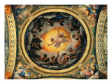 The Vision of St John the Evangelist, the Evangelists and the Doctors of the Church Giclee Print by Cesare Tallone