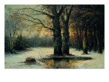 Snowfall in the Wood Giclee Print by  Maso Di Banco