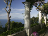 Balcony Overlooking the Sea, Villa San Michele, Capri, Naples, Campania, Italy Photographic Print