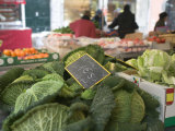 Vegetables in a Market Stall, Place Aux Herbes, Grenoble, French Alps, France Photographic Print
