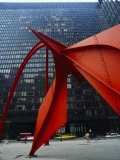 Close-up of a Structure in Front of a Building, Alexander Calder, Federal Plaza, Chicago Photographic Print
