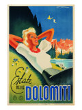 "Advertising Poster ""Estate Nelle Dolomiti"" Giclee Print"