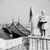Bridge across a River, Liberty Bridge, Danube River, Budapest, Hungary Photographic Print