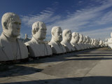 Busts of Us Presidents on Display in a Park, Houston, Texas, USA Photographic Print