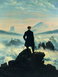 The Wanderer Above the Mists Giclée-Druck von Caspar David Friedrich