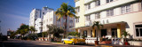 Car Parked in Front of a Hotel, Miami, Florida, USA Photographic Print by  Panoramic Images