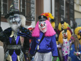 People in Costumes, Fasnacht Festival, Basel, Switzerland Photographic Print