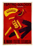 Poster of Nuovo Teatro Futurista (Goldoni Theatre) Giclee Print