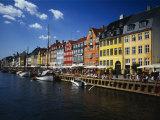Buildings at the Waterfront, Nyhavn, Copenhagen, Denmark Photographic Print