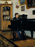 At the Piano Giclee Print