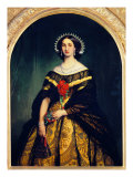 Portrait of Charlotte of Belgium Wearing the Costume Outfit of a Peasant Woman from Brianza Premium Giclee Print by Luca Della Robbia