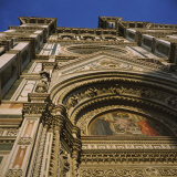 Low Angle View of a Cathedral, Duomo Santa Maria Del Fiore, Florence, Italy Photographic Print