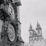 Low Angle View of an Astronomical Clock on a Government Building, Old Town Hall, Prague Photographic Print